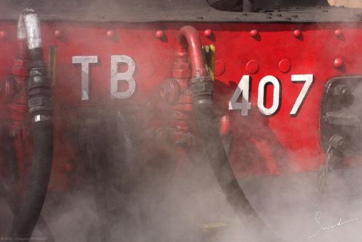 locomotive à vapeur 141 TB 407 Photo Grégoire Brossard
