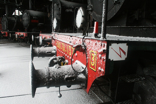 locomotives à vapeur sous la neige Photo P.Berger