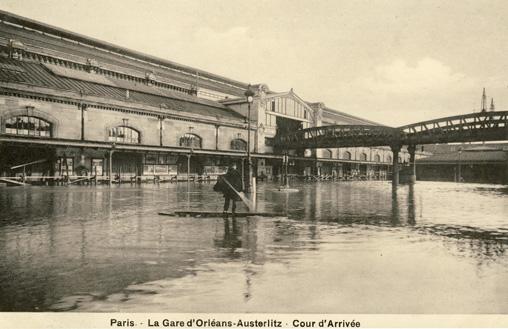 inondations paris 1910 austerlitz gare
