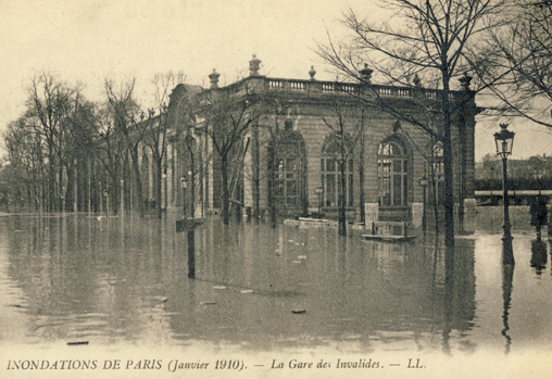 inondations paris 1910 invalides gare