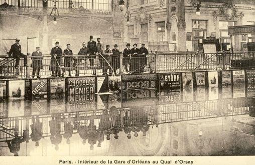inondations paris 1910 orsay gare