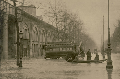 innondations paris 1910 avenue daumesnil