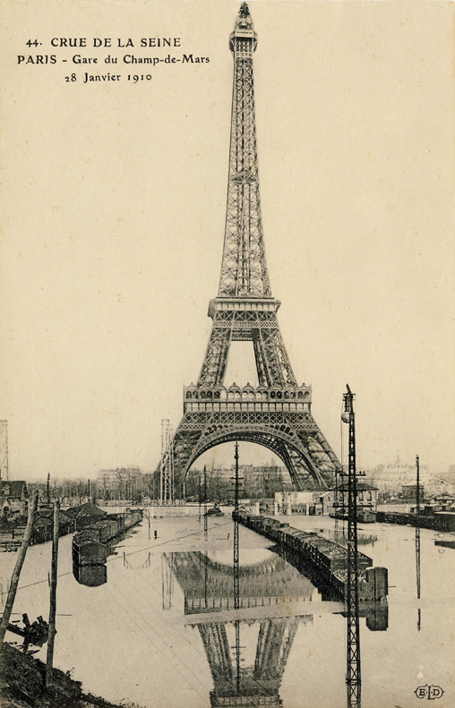 inondations paris 1910 champ de mars