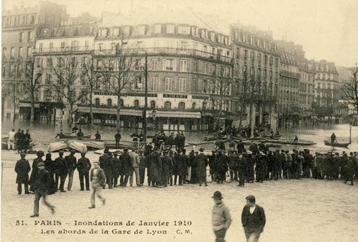 inondations paris 1910 gare de lyon