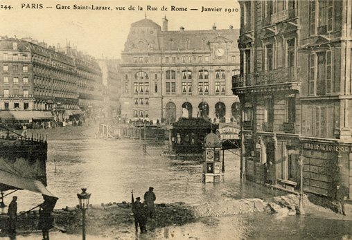 innondations paris 1910 rue de rome