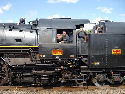 La 141 R 840 pendant le départ simultané